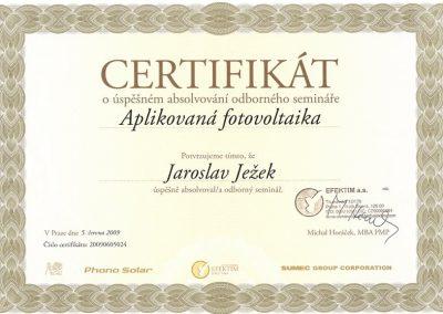 certifikat_Efektim_phonosolar_Ježek