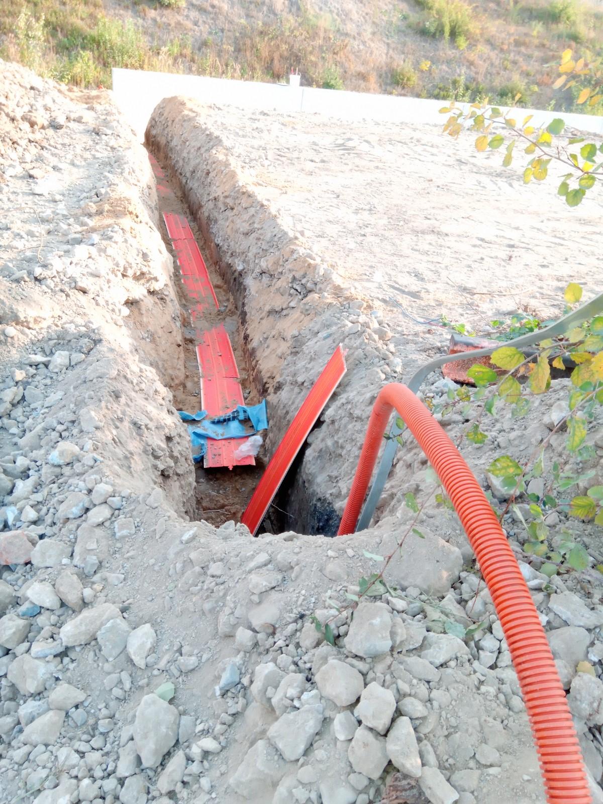 Pokládky přívodních kabelů
